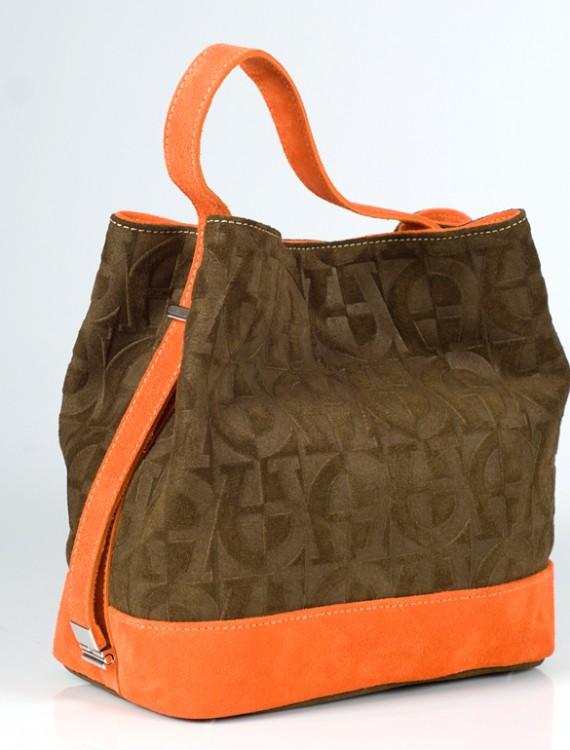 Dark Green Handbags-Suede Handbags