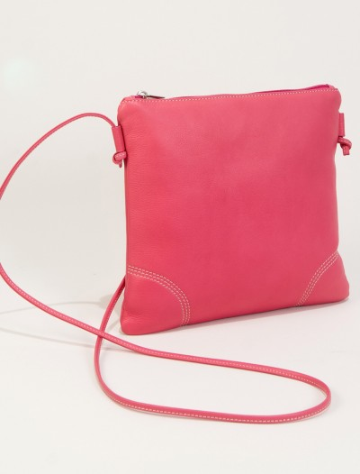 Pink leather handbags-Bag Fashionista