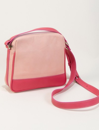 Pink leather handbag-Handbag Lisa