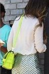 How to wear a lime green bag -Bag Fashionista