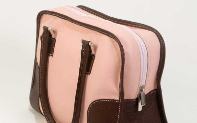 Pink Leather Handbags-Handbag Paloma
