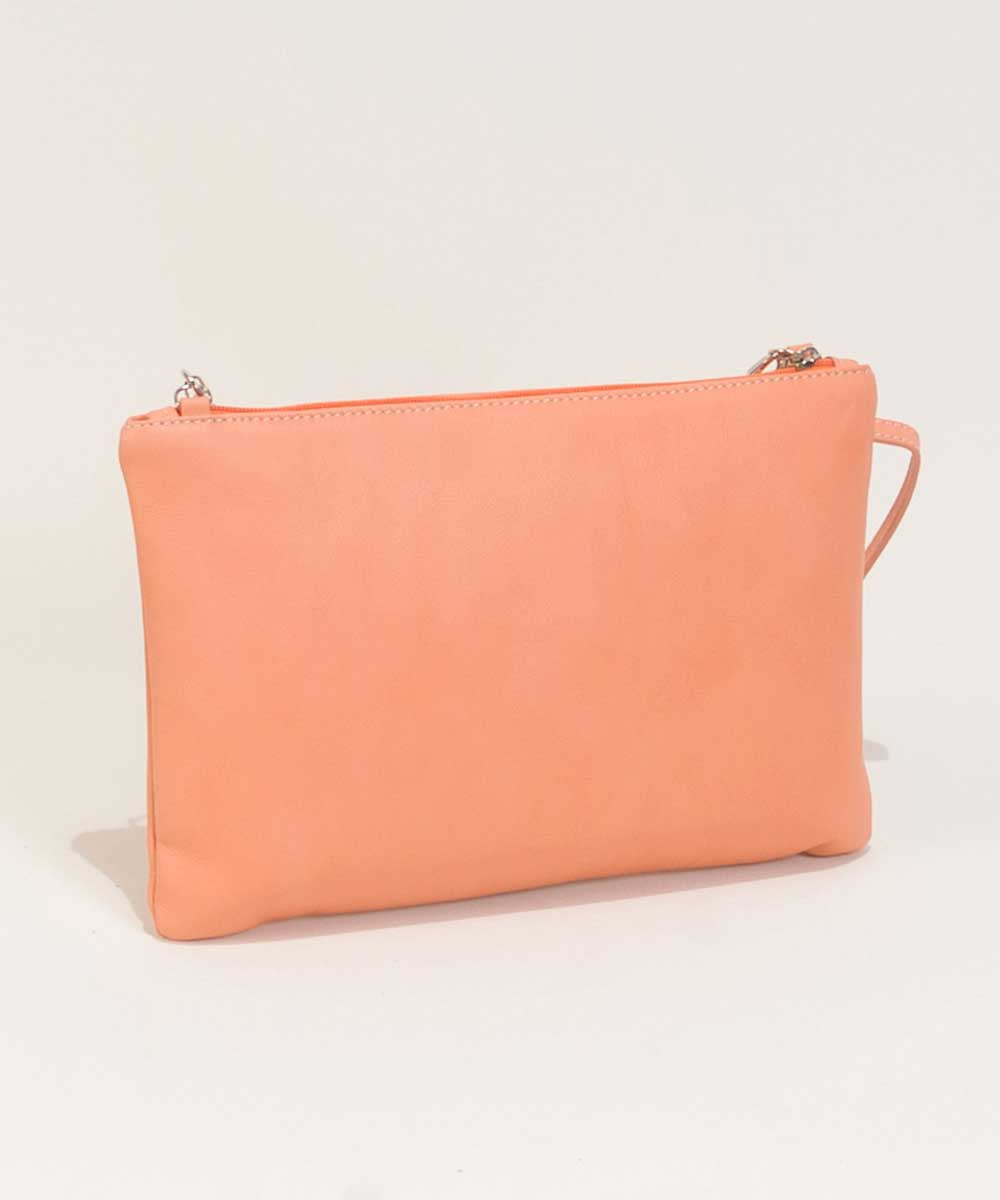 Leather Clutch Bag in Red-Bag Fashionista
