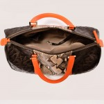cool spanish handbag, carolina-L-pyton-ladies-handbag-marron-lateral