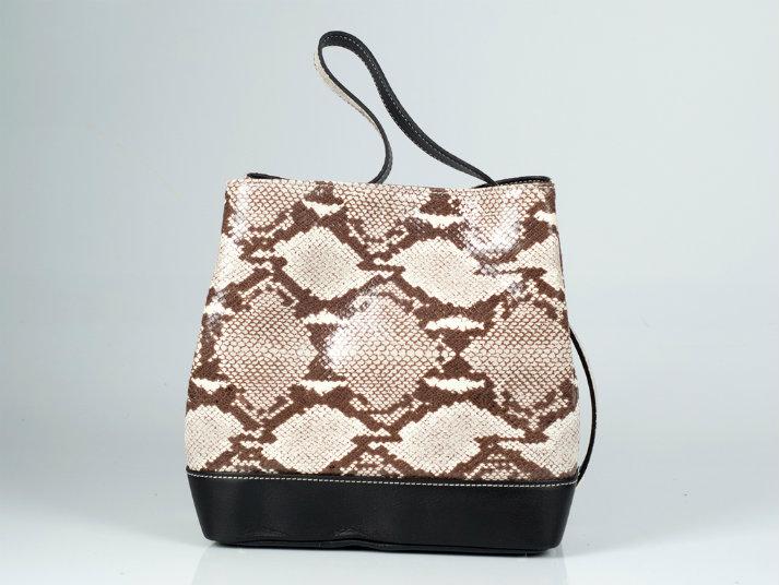 Snakeskin handbag Laura-BagFashionista.com