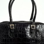 black crocodile handbag Lili