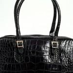 black crocodile handbag Lili