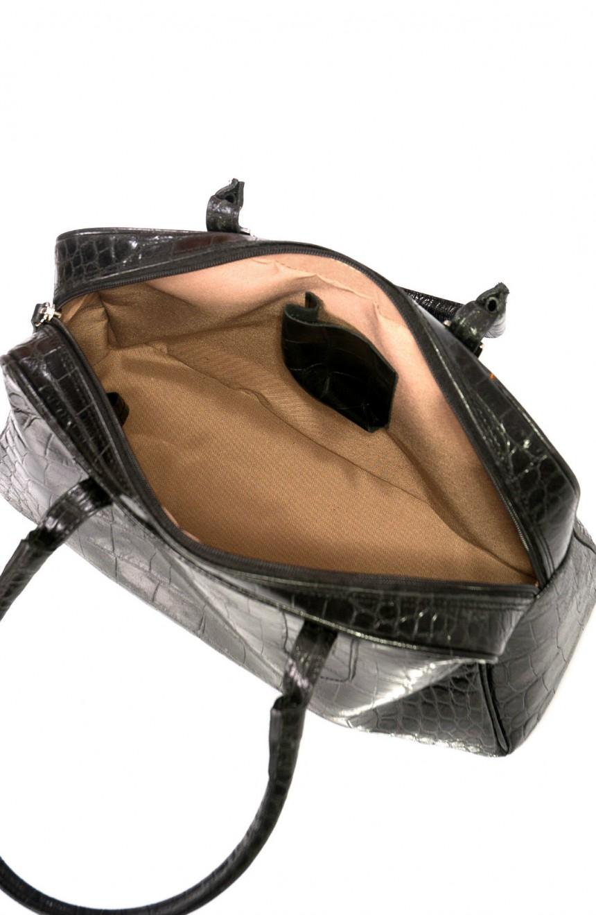 black crocodile handbag