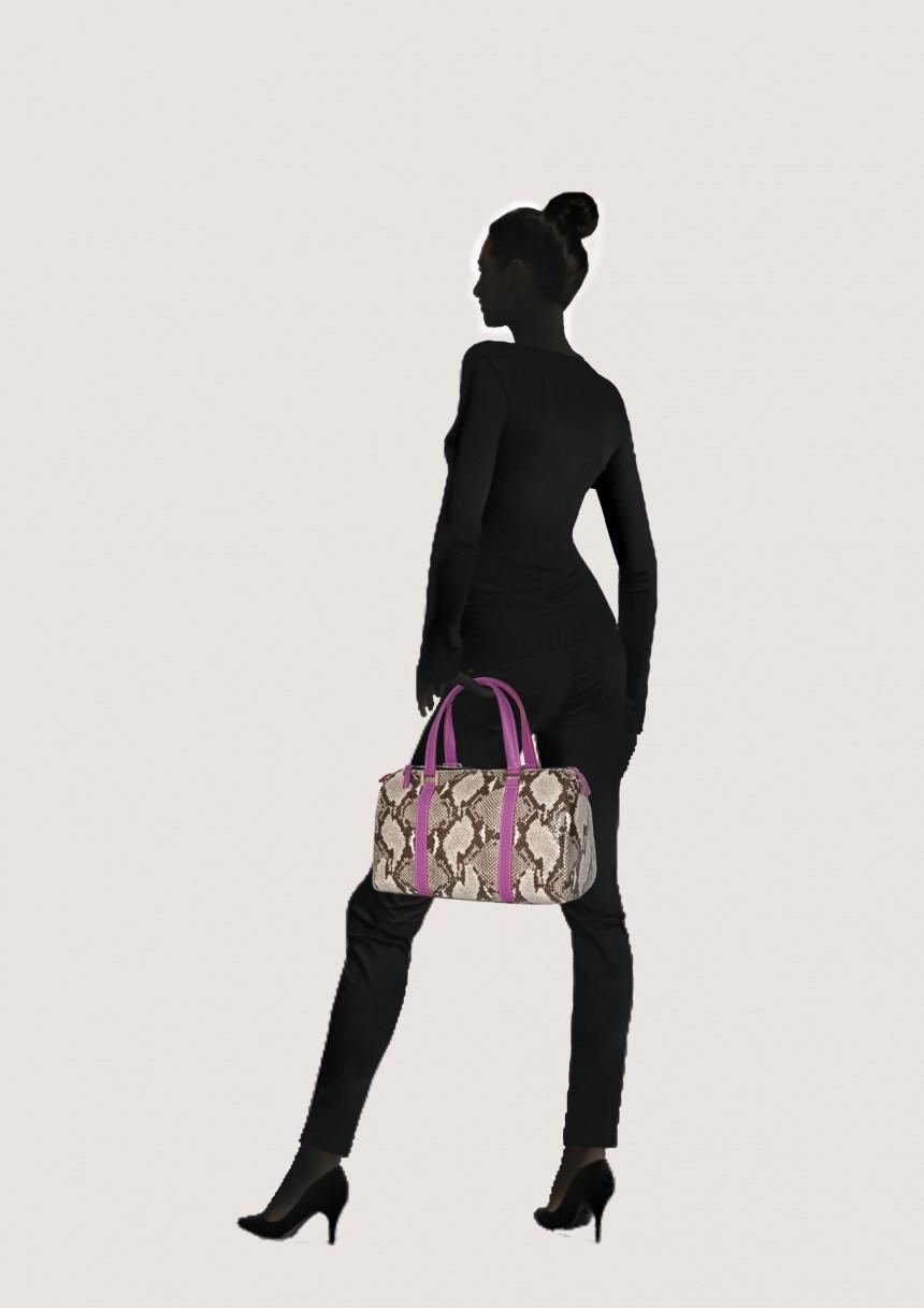 snakeskin handbag Laura -Bag Fashionista