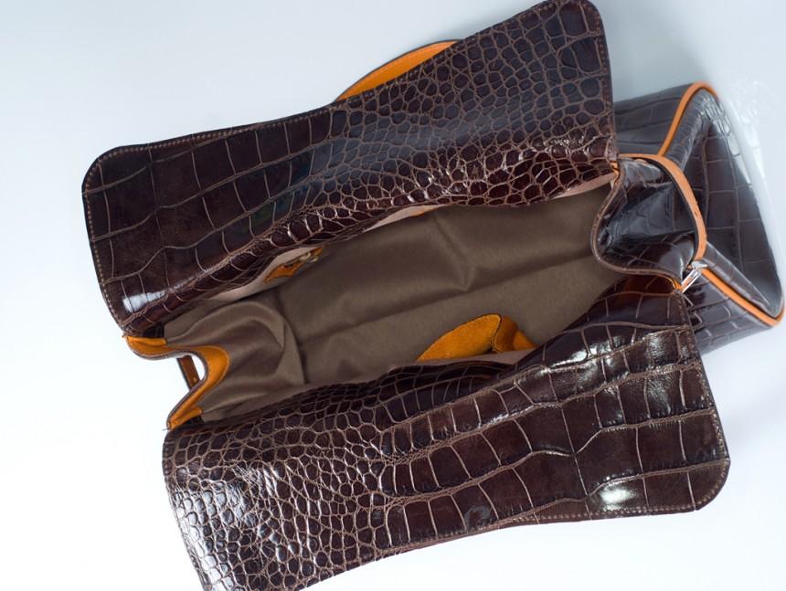 Crocodile bags-Bag Elena interior-Bag Fashionista