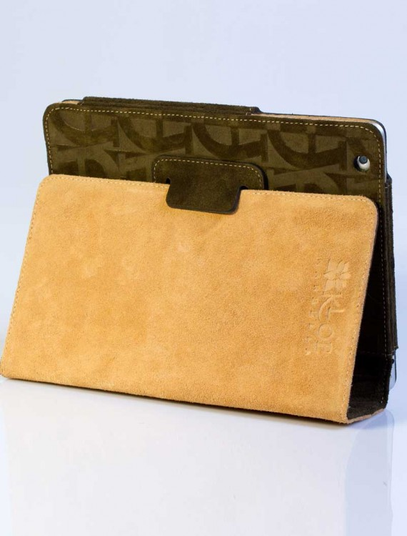 womens-ipad-cover-green-beige-leather