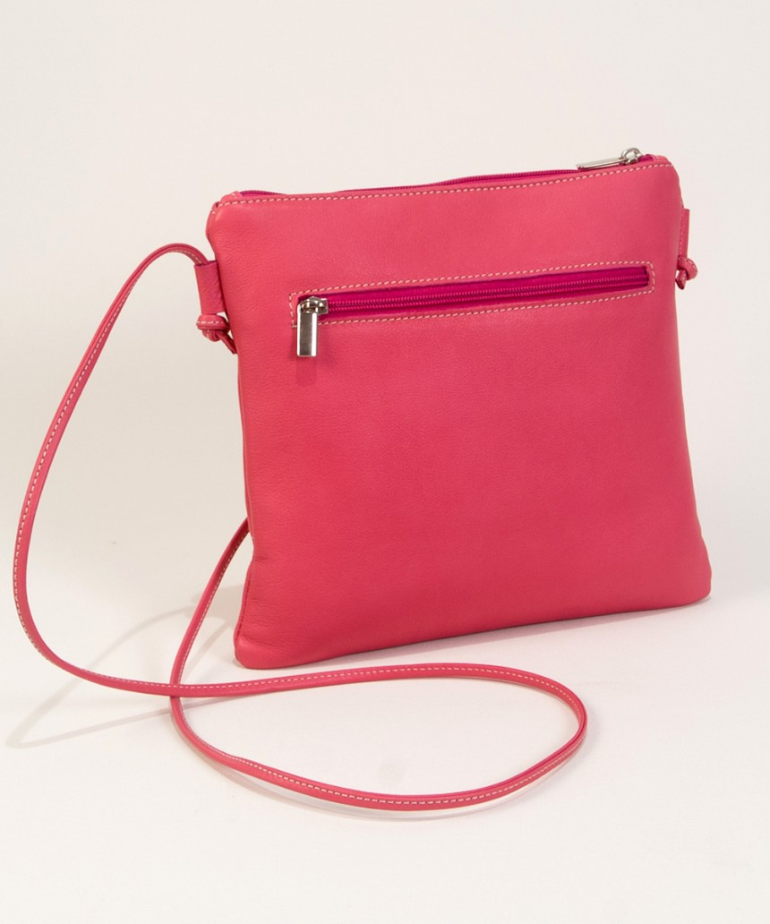 Pink leather handbags-Bag Fahionista