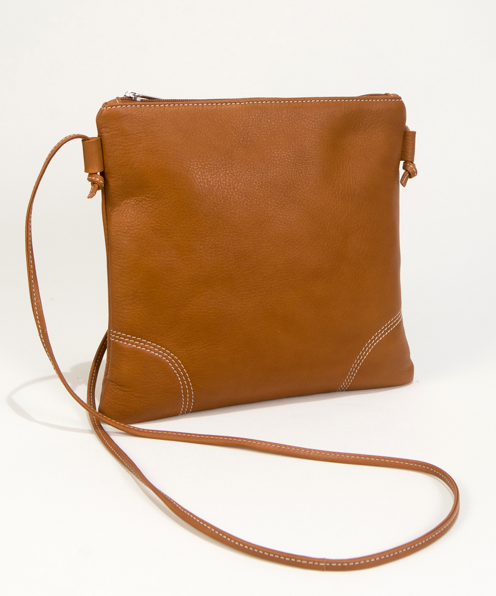 Small Brown Leather Handbag-Bag Fashionista