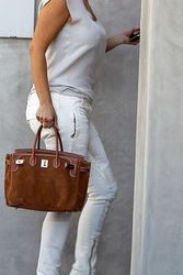 How to combine brown cool totes in summer-Bag Fashionista