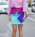 how to wear color block handbags 4