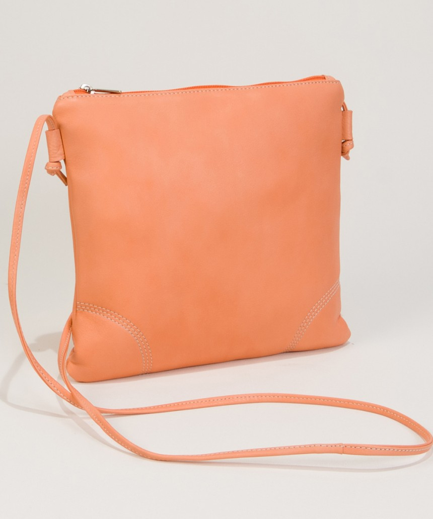 Small Leather Shoulderbags-Salmon Pink-Bag Fashionista