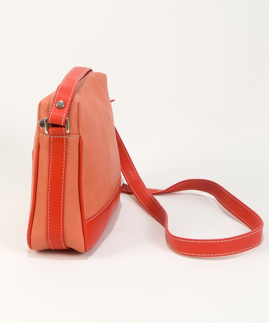 Small orange leather handbag Lisa-Bag Fashionista
