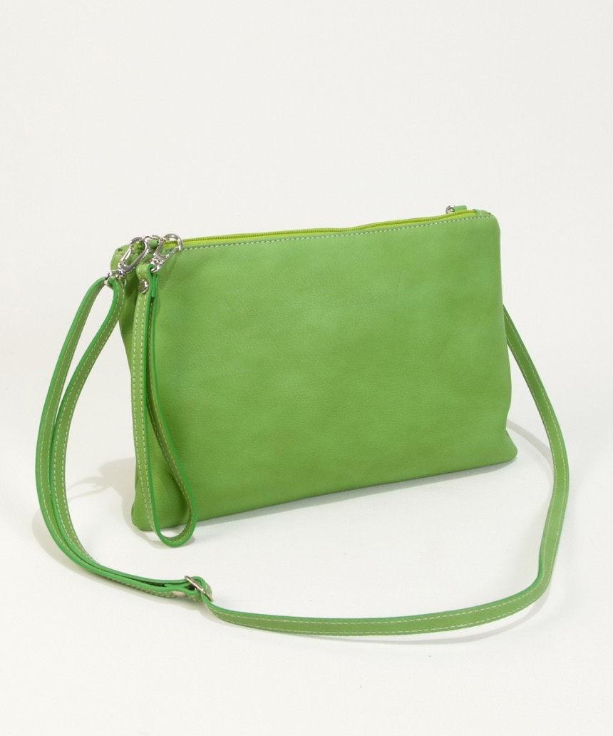 Lime green clutch-Handbag Cari-Bag Fashionista