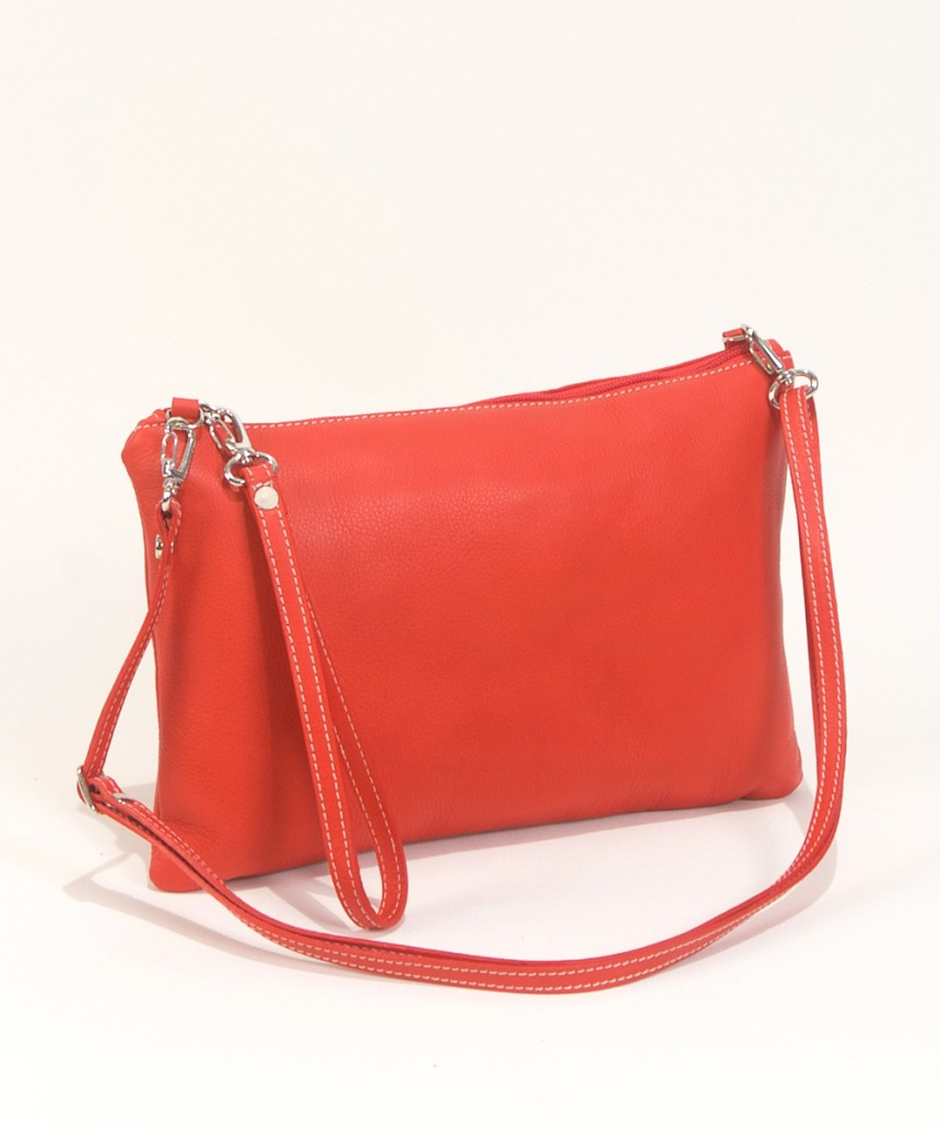 Leather cluth in red-Handbag Cari-Bag Fashionista