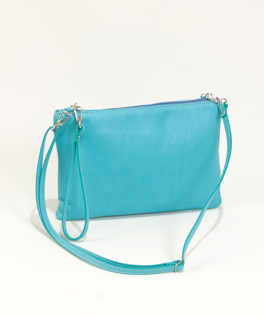 Turquoise Clutch Bag Handbag Cari