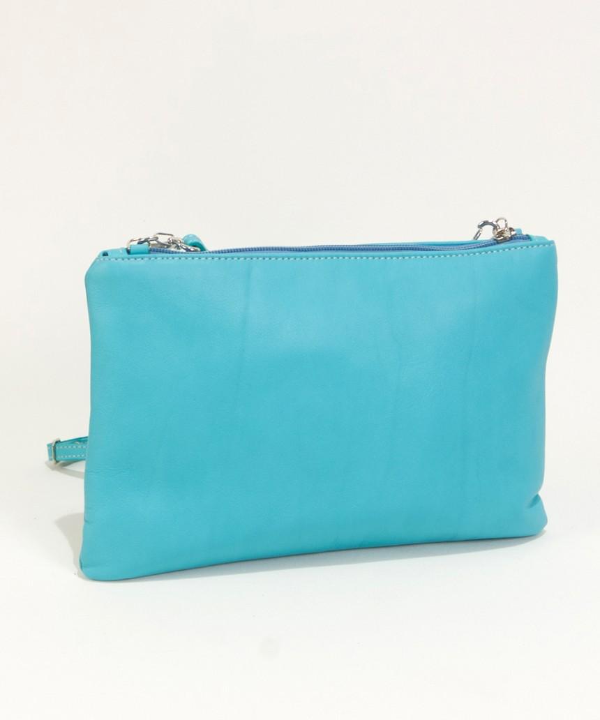 Turquoise clutch bag Cari-Bag Fashionista