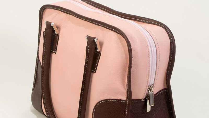 Pink Leather Handbags-Handbag Paloma